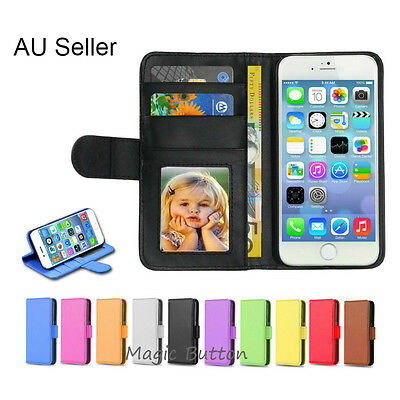 Premium PU Leather Flip Wallet Case Card Slot Cover For iPhone SE 5s SE 5