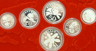 1986 singapore silver 6 coin proof set low mintage
