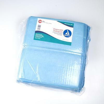 """Dynarex Underpad, Disposable, 23""""x 24"""" 31g, NEW/SEALED 200/CASE #1342"""