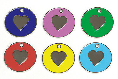 Personalised Cat Kitten Identity Disc, Id Disc, Id Tag, Heart Design, Engraved