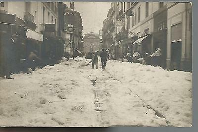 34 Herault- Montpellier Sous La Neige Mai 1922 - Carte Photo