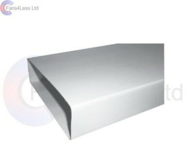 204x60 1,1.5, 2m Solid Rigid Duct Flat Rectangular Kitchen Extractor Ventilation