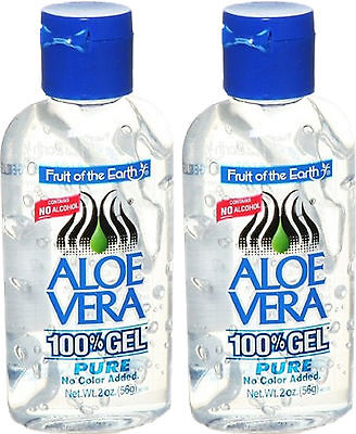 Fruit Of The Earth Aloe Vera 100% Gel Pure 56G X2 Twin Pack - No Alcohol,colour
