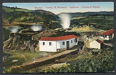C1920's View of Geysers, Furnas, St.Michael's Azores