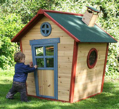 Redwood Lodge Kids Painted Wooden Playhouse Garden Wendyhouse Den Childrens play