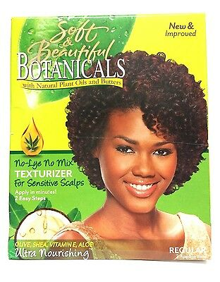 Soft & Beautiful Botanicals Texturize Regular No-Lye 2 Application New & Improve