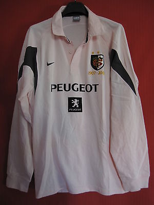 Maillot Rugby NIKE Stade Toulousain Rose Peugeot 1907 / 2007 Toulouse ST – XL
