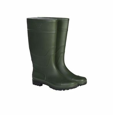 New Briers Traditional Green PVC Waterproof Wellington Boot Outdoor Shoes