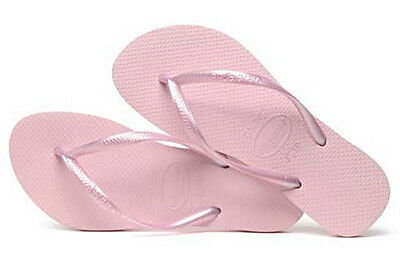 7e6b57ec9 Havaianas Women`s Flip Flops Slim Style Sandals Crystal Rose Sexy Sandals  NWT