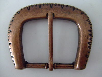 Century Canada Chain Style Antique Brass Center Bar Belt Buckle Made in Canada