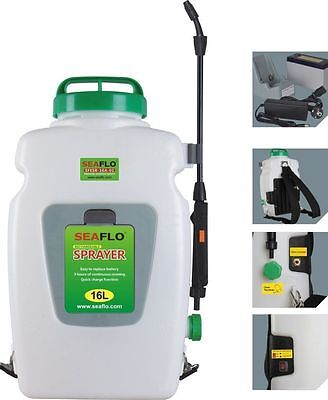 Knapsack Agricultural Electric Sprayer SeaFlo 16 L w 12-volt rechargeable batery