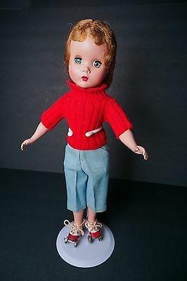 """CLEARANCE SALE 1950's Madame Alexander Kathy Skater Doll 15"""" Factory Clothes"""