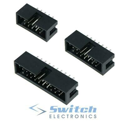 IDC Straight Pin Boxed PCB Header Connectors 2.54mm - 10 14 16 20 26 Ways