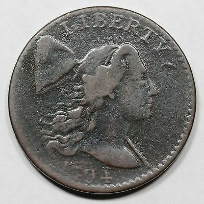1794 S-42 R-4 Head of '94 Liberty Cap Large Cent Coin 1c