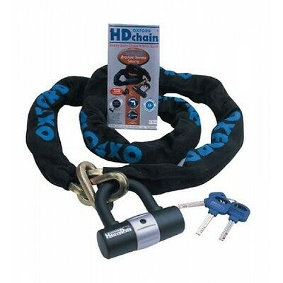 Oxford OF157 1 Metre HD Motorcycle Lock & Chain Ideal For Your VESPA Bike