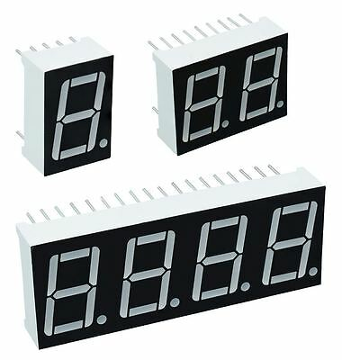 "7 Segment 0.56"" LED Displays / Common Cathode or Anode"
