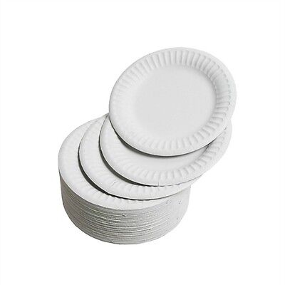 """9"""" Disposable Paper Plates 23cm 500 - 2000  for Parties BBQ Picnic Outside Food"""