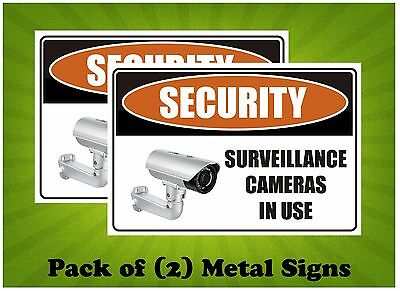 Security - Surveillance Cameras In Use Pack of (2) Metal Sign 450x300mm