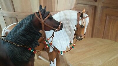 Breyer horse custom two bead rein bridles cm colorful