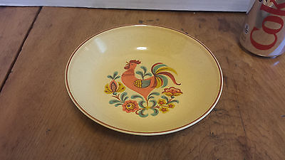 """Reveille Rooster Soup Cereal Bowl 6 5/8"""" Taylor, Smith & Taylor TST RED trim"""