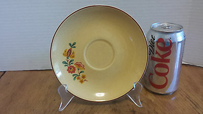 """Taylor, Smith & Taylor Reveille ROOSTER Saucer 6 3/8""""  TST RED trim"""