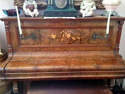 Antique Circa 1890 ADAMSON & CO. London 85 ivory Key& Candle HolderUPRIGHT PIANO