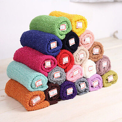 20Color Soft Newborn Baby Stretchy Backdrop Wrap Cloth Photo Photography Prop