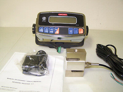 Compression Scale 1000X0.2 lb S Type load cell / Digital Indicator,20' Cable,New