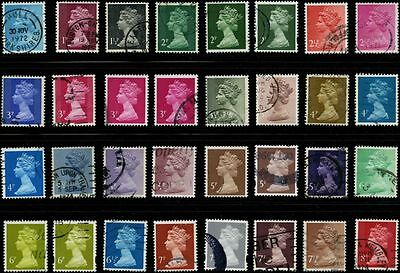 Great Britain 1971- stamps incomplete set Machin USED SG X841-Y1672 CV $19.22 16