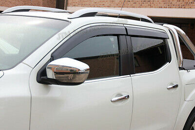 Set of 4 Window Visors Weather Shield to suit Nissan Navara NP300 D23 2015-2018