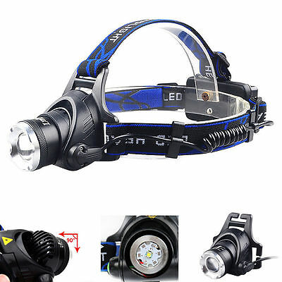 Neu Bright 8000LM 3-Modes LED Headlamp Headlight Zoomable Head Lamp Toch 18650