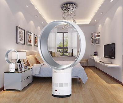 """Bladeless Fan 14"""" AirFlow Cooling Remote Control for summer"""