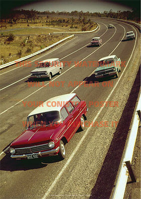 Holden Eh Group Sedan Wagon A3 Colour Poster Print