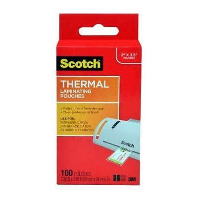 Scotch Thermal Laminating Pouches 2.32 x 3.70-Inches Business Card Size 100-Pack