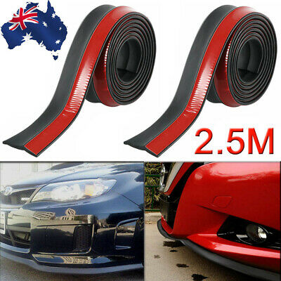 2.5M Universal Car Front Bumper Splitter Body Spoiler Lip Skirt Protector Rubber