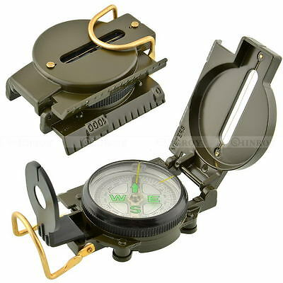 Multifunction Lens Compass Military Army Hiking Camping Outdoor Survival Tool