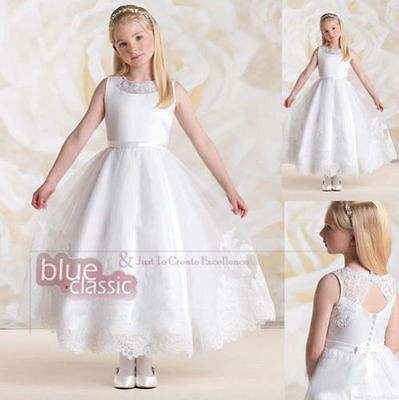 Lace Christening-Princess-Birthday-Wedding-Dance-Pageant-Flower-Girl-Ball gown