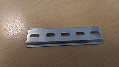 Din Rail 'Top Hat' slotted - 12.5cm  Length (rough size, could be 1 cm each way)