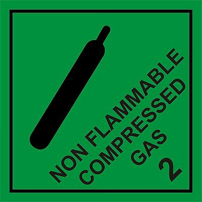 Non Flammable Compressed Gas Warning Vehicle Magnetic Sign Stay Within The Law