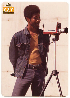 Vintage 1970s African American Student with Video Camera Old Color Photo CO09