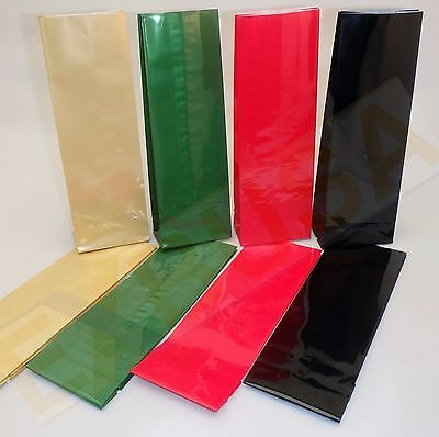 BLOCK BASE STANDING BAGS Flat Bottom Cellophane PP food packaging CHOOSE COLOUR!