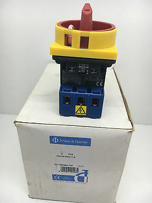 6x Kraus & Naimer KG41B.T203/17.E Lockable Main Switch With Emergency Function