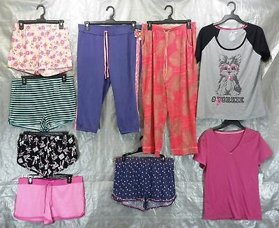 Wholesale Lot 100 Assorted Sleep Tops Bottoms Pajamas Sleepwear Womens S-L Sizes