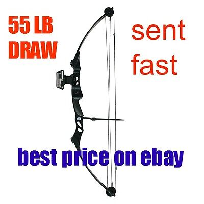 New  55lb High Powered Adult Compound Bow Archery Target Shooting