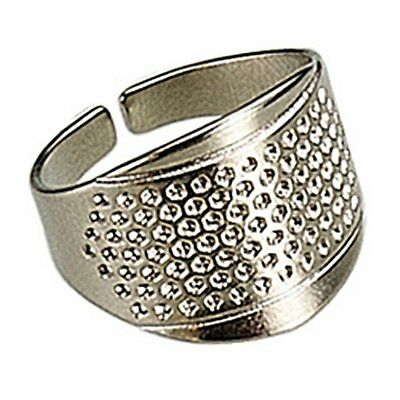 Open Sided Dimpled Metal Thimble  2pcs.