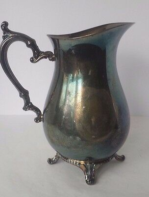 Wm Rogers Silverplate Pitcher Ice Lip