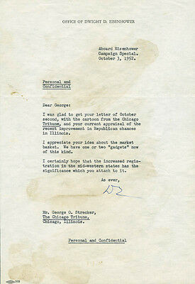 Dwight D. Eisenhower - Typed Letter Signed 10/03/1952