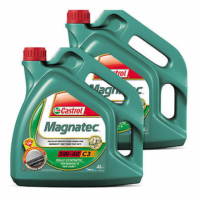 Castrol Magnatec 5W40 C3 Fully Synthetic Engine Oil 8 Litres