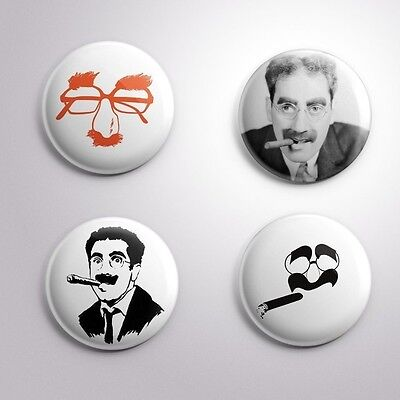 4 GROUCHO MARX - Pinbacks Badge Button 25mm 1''