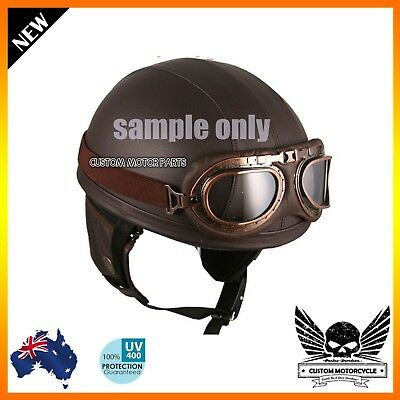 Motorcycle Goggles Tinted lens HARLEY DUCATI TRIUMPH HONDA BOBBER CHOPPER Flying